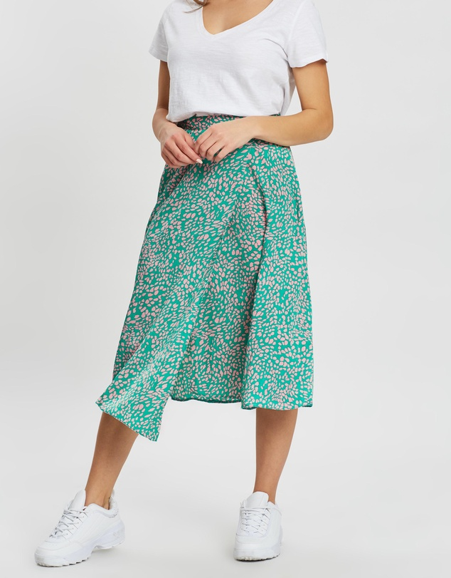 Miss Selfridge Petite - Animal Satin Skirt