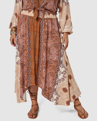 The Poetic Gypsy Sugar n Spice Maxi Skirt - Skirts (PINK)