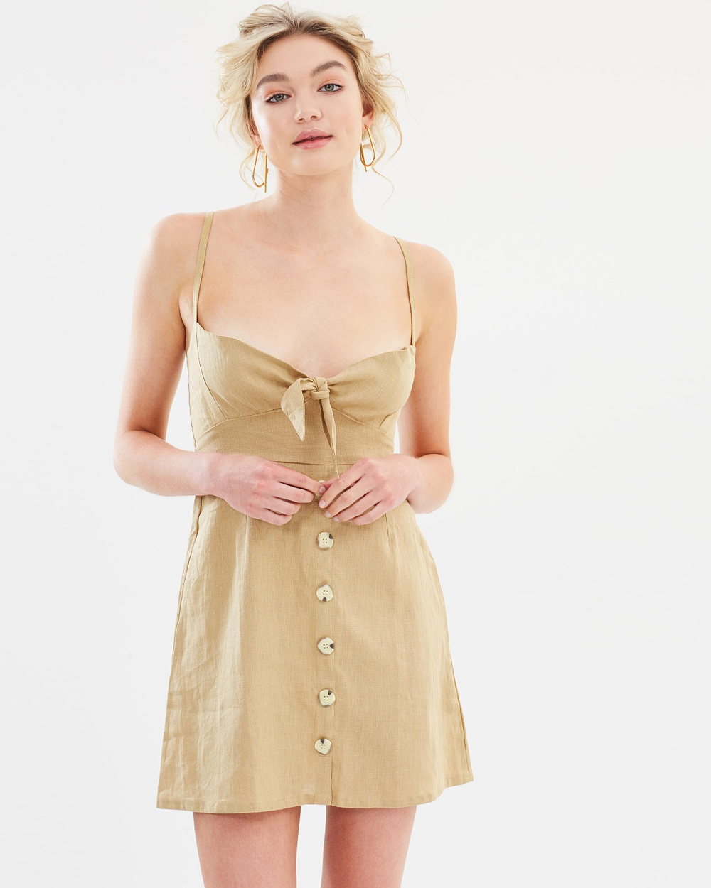 Faithfull Rodeo Dress Dresses Plain Oat Rodeo Dress