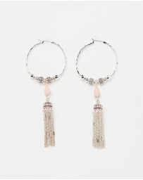 SAMANTHA WILLS - Moonshadow Hoop Tassel Earrings