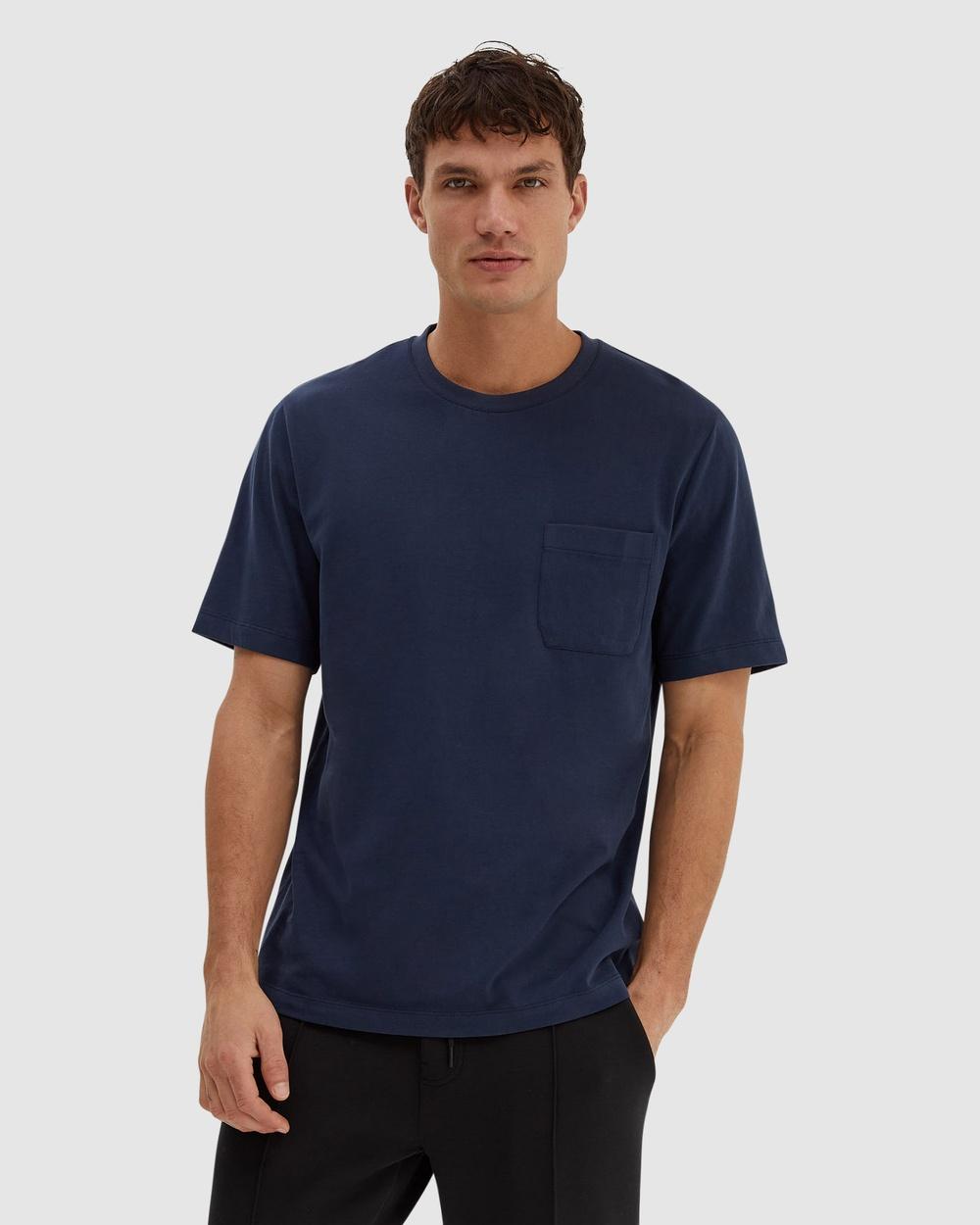 SABA - SB Walker Short Sleeve Super Soft Tee - T-Shirts & Singlets (French Navy) SB Walker Short Sleeve Super Soft Tee
