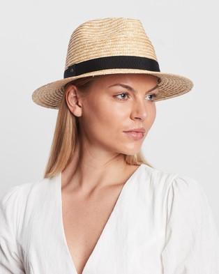 Ace Of Something Eros Straw Fedora - Hats (Natural & Black)