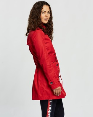 Tommy Hilfiger Megan Double Breasted Trench - Coats & Jackets (Primary Red)