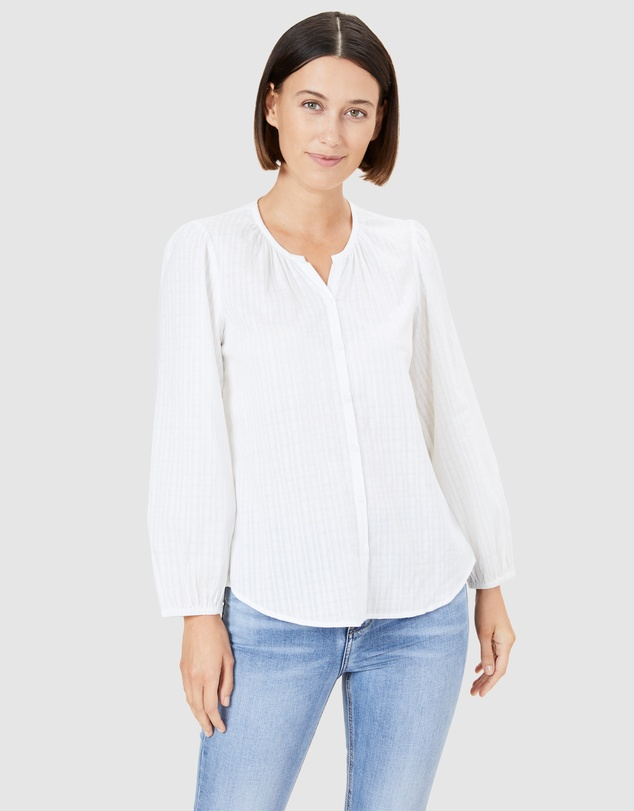French Connection - Cotton Jacquard Blouse