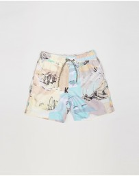 Scotch Shrunk - Mid Length Swim Shorts - Kids-Teen