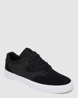 DC Shoes Mens Kalis Vulc S Suede Shoe - Sneakers (Black/Black/White)