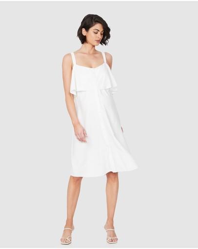Soon Maternity Adore Feeding Dress White