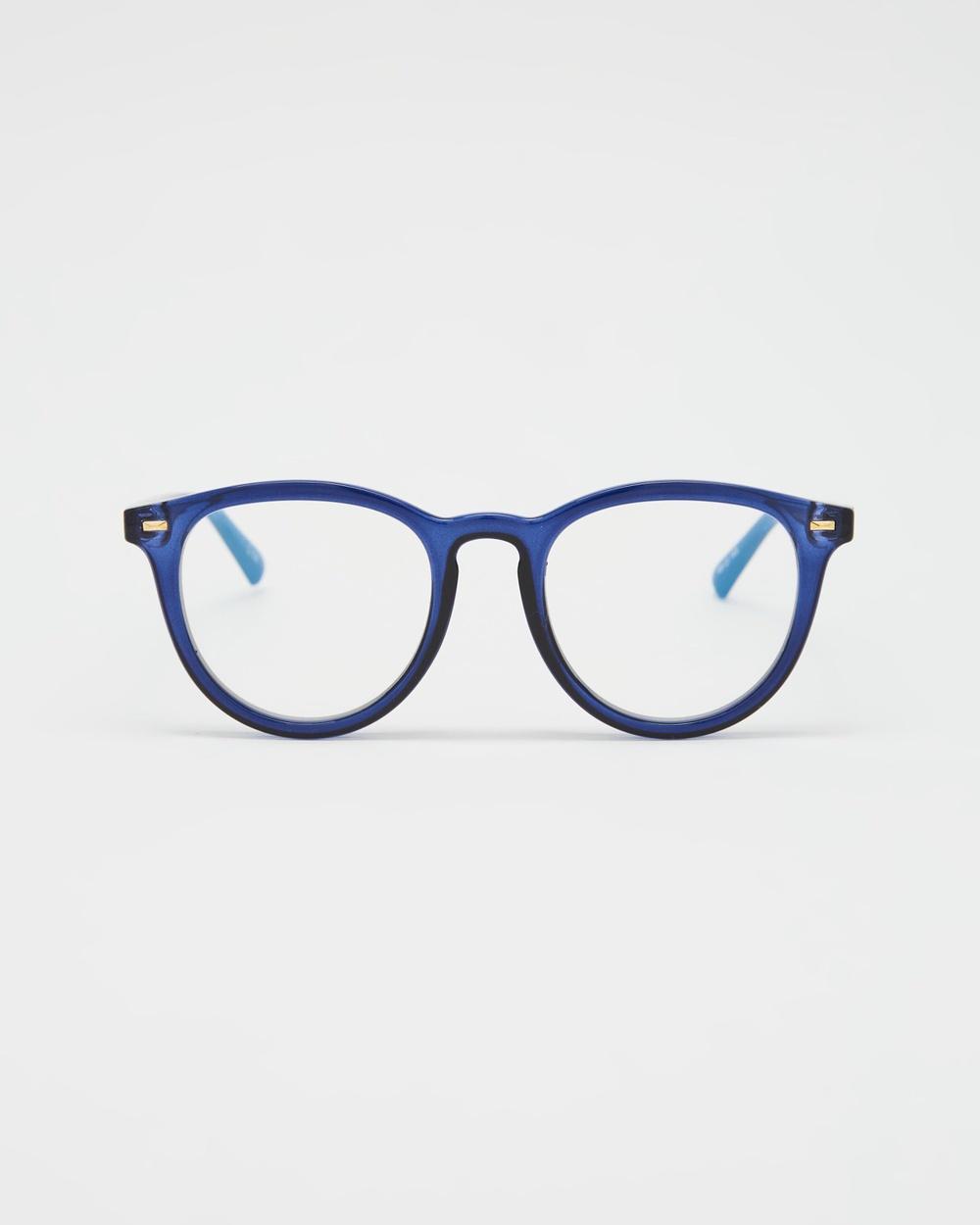 Le Specs Fire Starter Blue Light Optical Navy Blue
