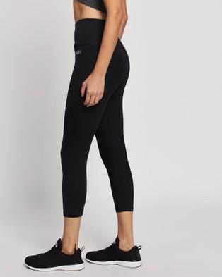Brasilfit - High Waisted Basic Xtreme 7 8 Leggings 7/8 Tights (Black) High-Waisted 7-8