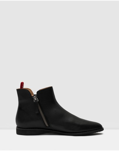 Rollie Madison Side Zip Boots All Black