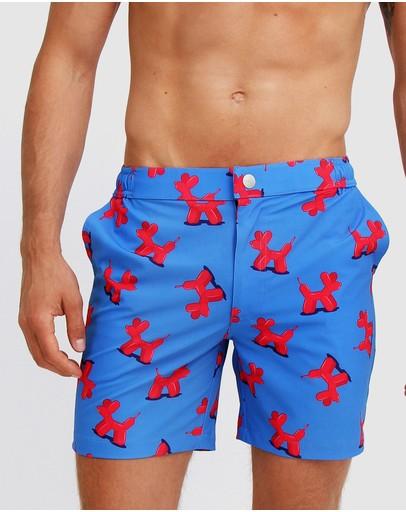 Mosmann Hank Tailored Swim Shorts Red Balloons