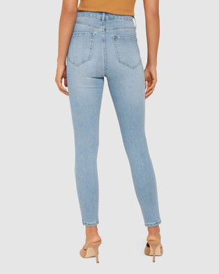 Forever New Olivia High Rise Sculpting Crop Jeans - High-Waisted (Alabama Blue)