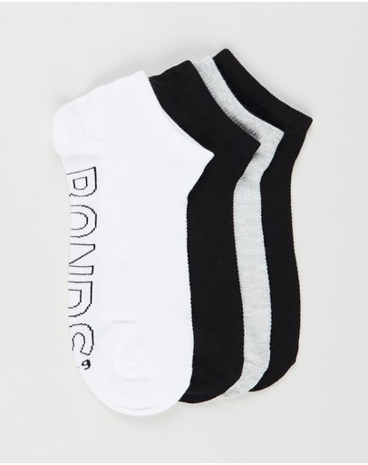 Bonds - Logo Lightweight Low Cut 4-Pack Socks