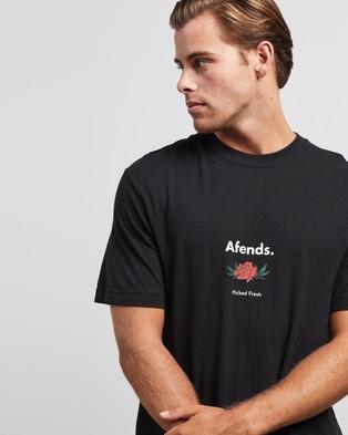 Afends Harvest Hemp Retro Fit Tee - T-Shirts & Singlets (Black)