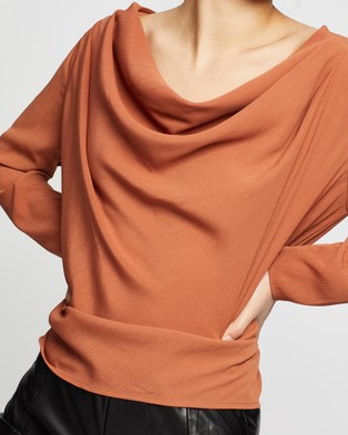 Wish The Label Lustre Blouse - Tops (Brick)