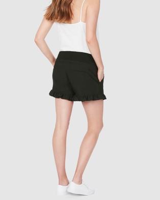 Soon Maternity Marnie Frill Shorts - Shorts (GREEN)