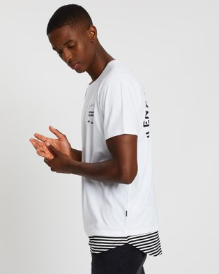 Silent Theory Trimmed Layered Tee - T-Shirts & Singlets (WHITE)