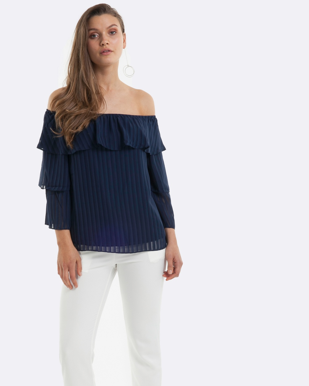 Amelius Adorned Top Tops Navy Adorned Top