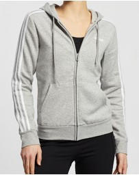 adidas Performance - Essentials 3-Stripes Full-Zip Fleece Hoodie
