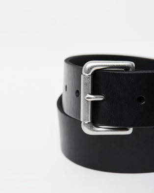 Polo Ralph Lauren Saddle Patch Belt - Belts (Black)