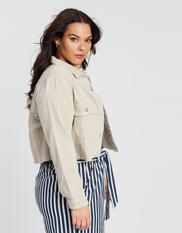 Cotton On - Curve Relaxed Corduroy Crop Jacket