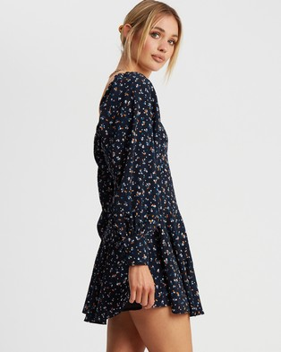 Savel Rylee Mini Dress - Printed Dresses (Meadow Floral Navy)