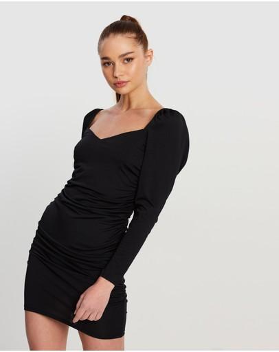 Ivyrevel Puff V-neck Dress Black