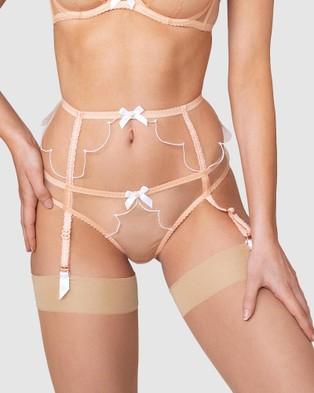 Agent Provocateur Lorna Suspender - Lingerie Accessories (Nude & White)