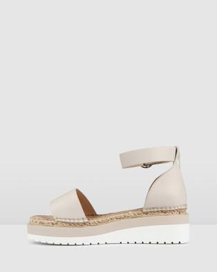 Jo Mercer Cardi Low Heel Wedges - Wedges (Bone Leather)