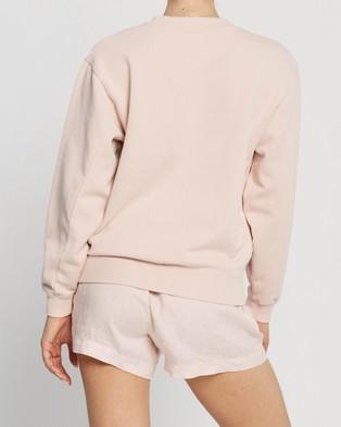 Assembly Label Logo Fleece Sweater - Sweats (Coral)