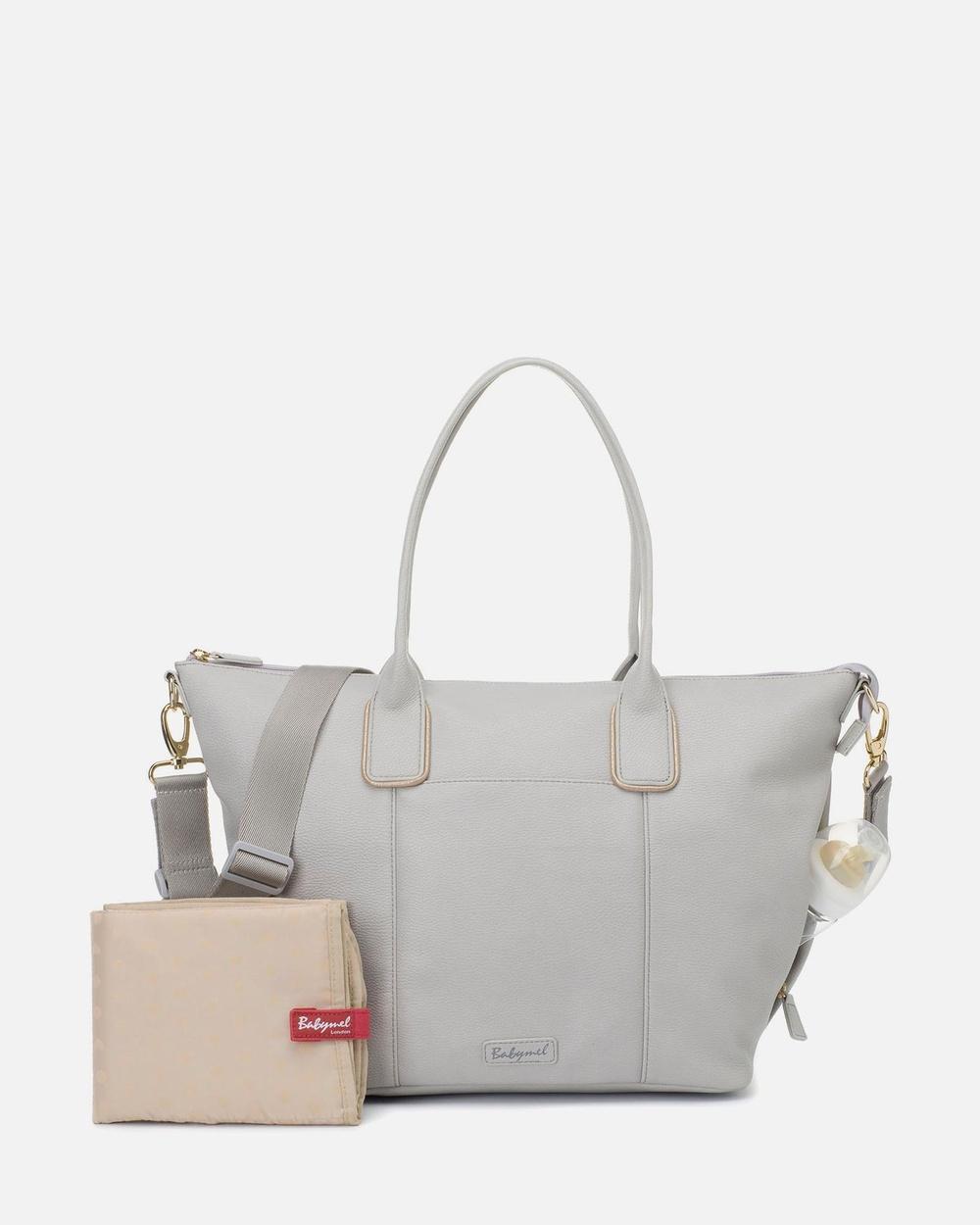 Babymel Roxy Vegan Leather Bags Grey