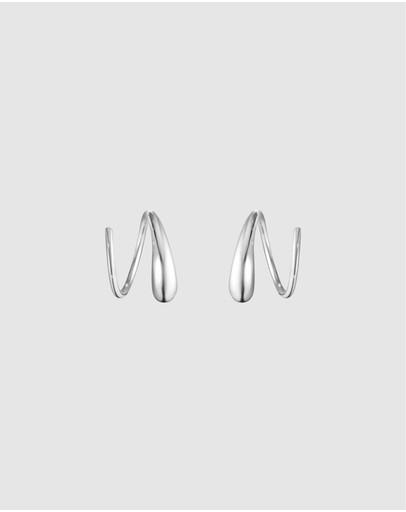Georg Jensen Mercy Swirl Earring Sterling Silver