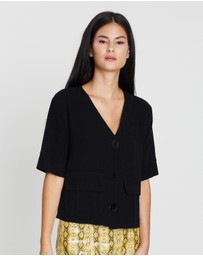 TOPSHOP - Button Down Top