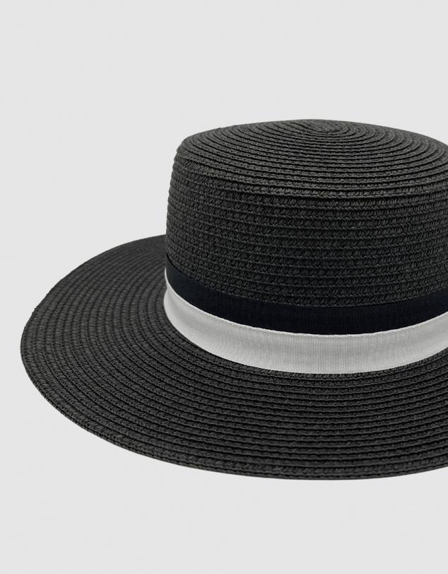 Women Jacaru 1882 Boater Hat Black
