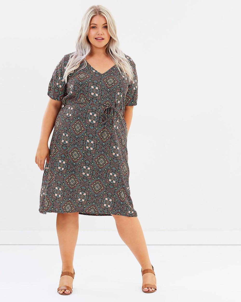 Hope & Harvest Ostara Shift Dress Printed Dresses Multi Ostara Shift Dress