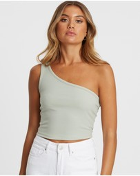 Calli - Safiya One-Shoulder Crop Top