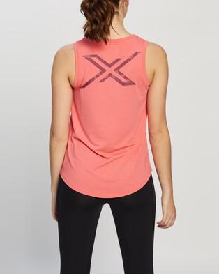2XU - Contender Singlet Muscle Tops (Pink)