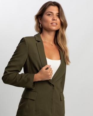 Atmos&Here Ollie Tailored Blazer - Blazers (Khaki)