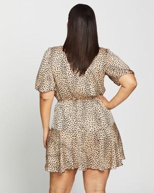 Atmos&Here Curvy Mia Mini Dress - Printed Dresses (Animal Print)
