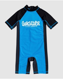 Quiksilver - Boys 2-7 Thermo One Piece UPF 50 Back Zip Rashguard