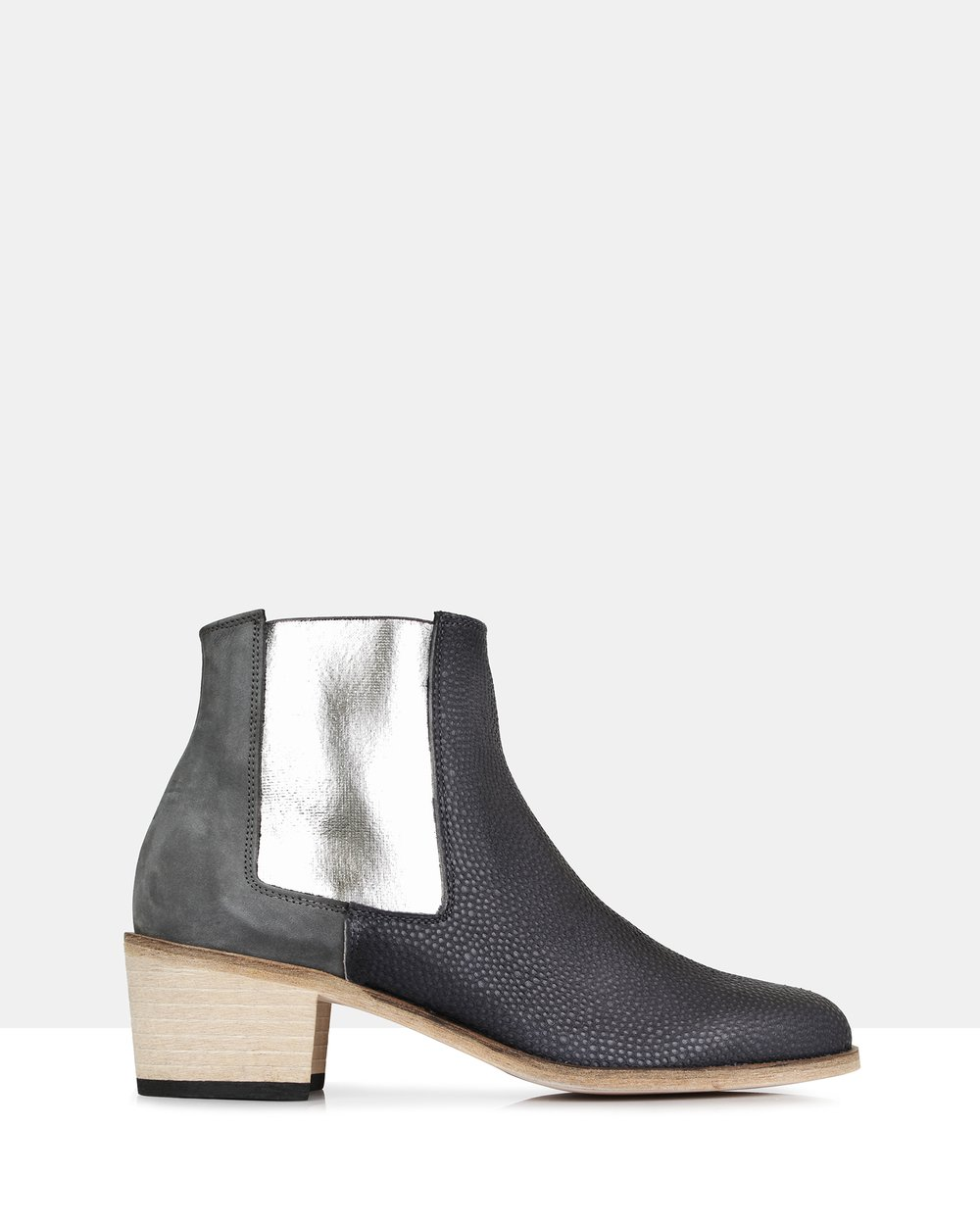 Beau Coops Jerry Basket Leather Boots Grey