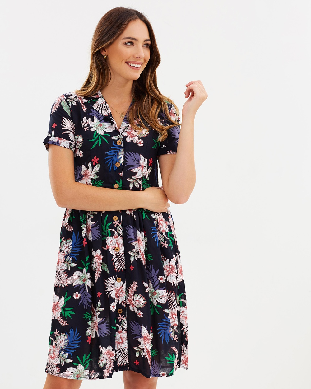 M.N.G Lali Dress Printed Dresses Navy Lali Dress