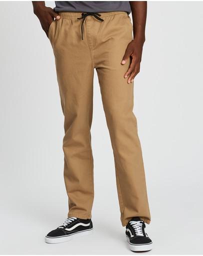 Rusty Charles Elastic Pants Latte