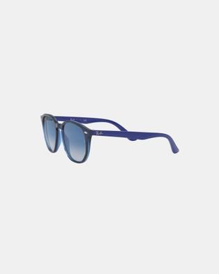 RaBan Junior - 0RJ9070S   Kids Sunglasses (Blue, Light Grey Gradient & Dark Blue)