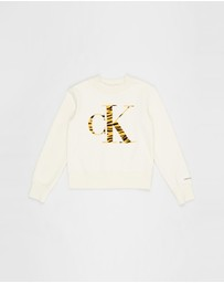 Calvin Klein Jeans - Urban Animal CK Flock Sweatshirt - Teens