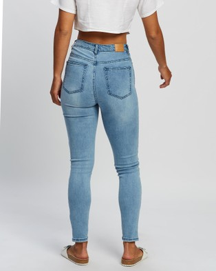 All About Eve Frankie High Rise Jeans - High-Waisted (LIGHT BLUE)