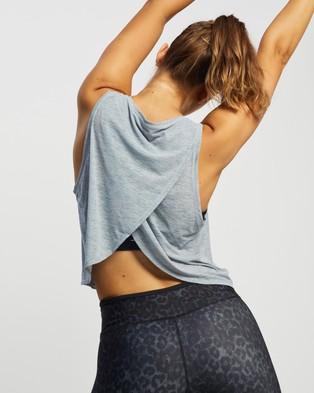 Nimble Activewear Cross Back Tank - Muscle Tops (Frost Grey)