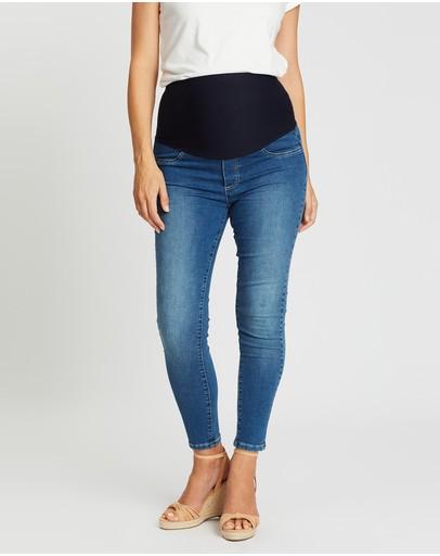 Angel Maternity High-waist Slim Jeans Blue