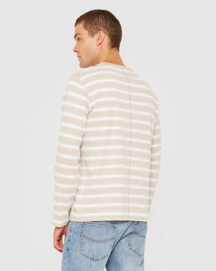 Jag - Cotton Engineered Stripe Tee - T-Shirts & Singlets (Multi) Cotton Engineered Stripe Tee