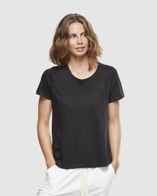 Cloth & Co. Organic Cotton Crew Neck T Shirt - Short Sleeve T-Shirts (Black)